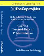 Essential Tools of Public Relations, Capitol Learning Audio Course