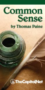 "Pocket edition of ""Common Sense"" by Thomas Paine"