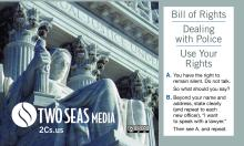 Bill of Rights Card from Two Seas Media, front, 2CsBOR.com