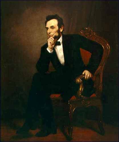 Abraham Lincoln, by G.P.A. Healy, 1887 -  from the White House