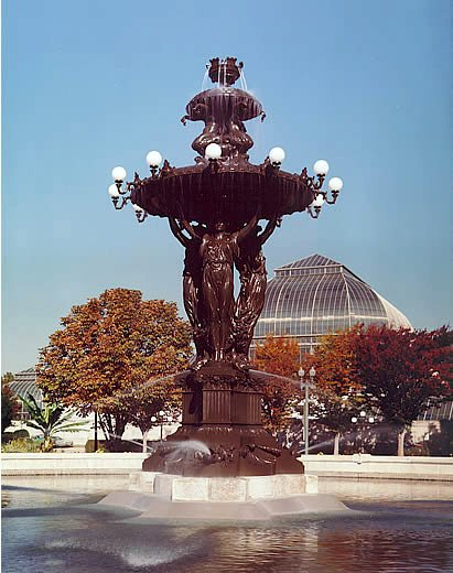 The Bartholdi Fountain at Bartholdi Park, at the U.S. Botanic Garden