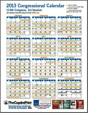 2013 Congressional Calendar thumbnail - Click image for the PDF