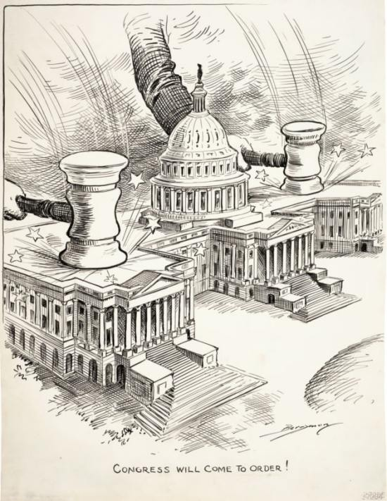 """Congress Will Come To Order!"" by Clifford K. Berryman"