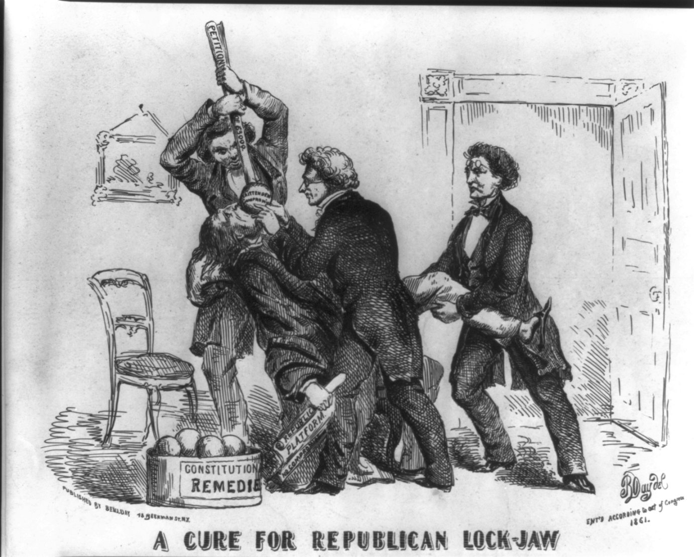 """A cure for Republican lockjaw"" 1861. By Benjamin Henry Day (1838-1916). Library of Congress"