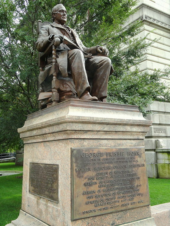 George Frisbie Hoar Monument - Worcester, MA, by Daderot (Wikimedia Commons)