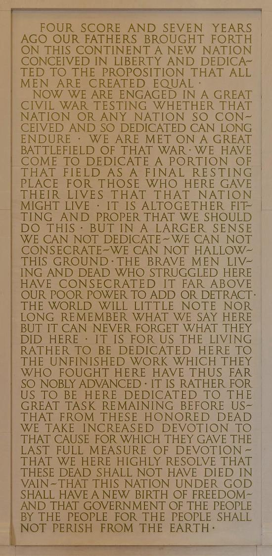 Gettysburg Address, by Abraham Lincoln, November 19, 1863