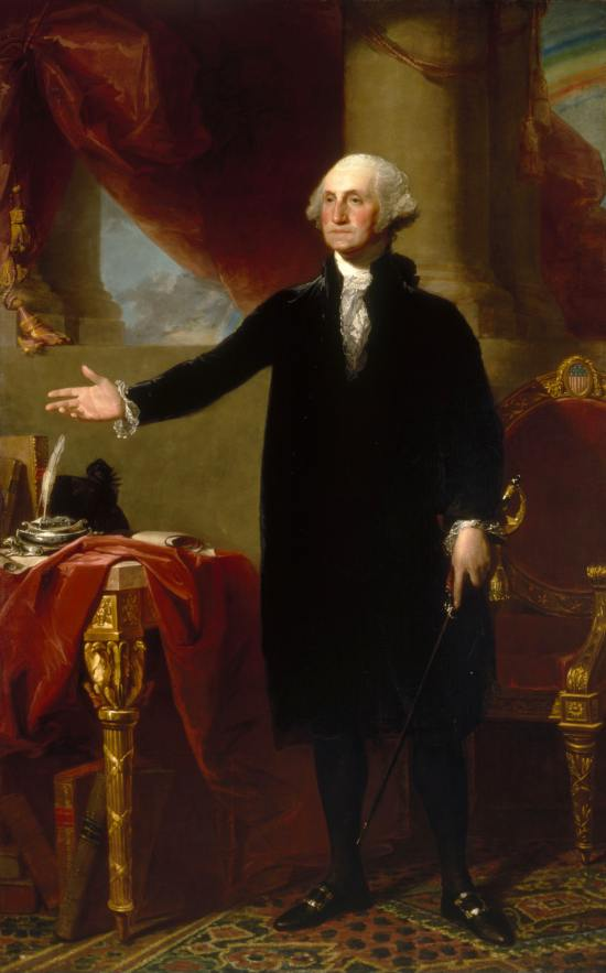 Lansdowne portrait of George Washington by Gilbert Stuart, 1796