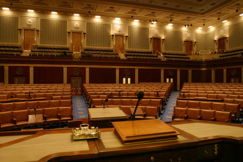 House Chamber as seen from the Rostrum