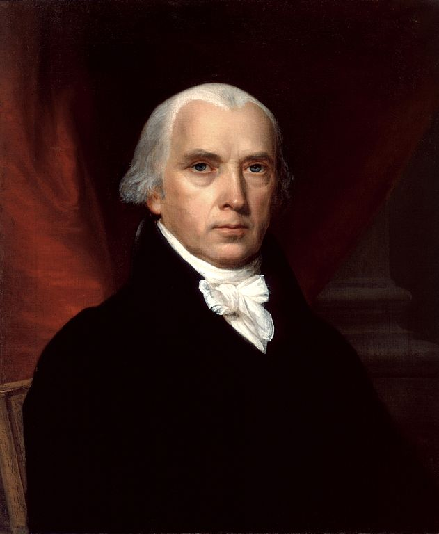 James Madison, Father of the Constitution, 4th President of the United States. Portrait by John Vanderlyn