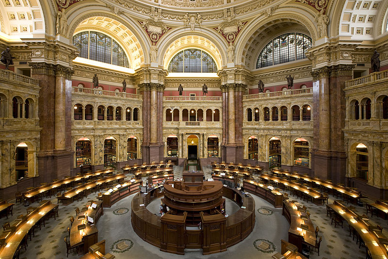 Main Reading Room in the Jefferson Building of the Library of Congress, by Carol Highsmith