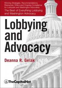 Lobbying and Advocacy, by Deanna Gelak