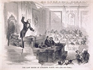 The Last Hours of Congress, March, 1859. From Harper's Weekly, March 12, 1859