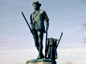 The Concord Minute Man of 1775