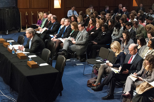 Agriculture Secretary Tom Vilsack testified before the Senate Agriculture Committee, March 7, 2012, by Bob Nichols.
