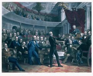 The United States Senate, 1850, by Robert E. Whitechurch