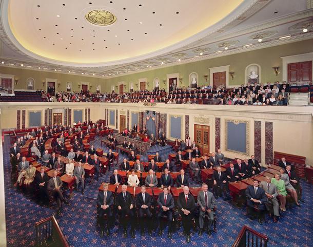 The United States Senate in the Senate Chamber, 108th Congress, 2003. Credit: U.S. Senate Photo Studio
