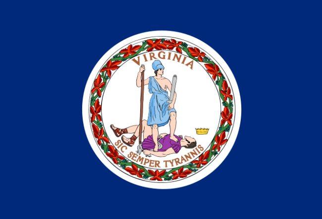 Virginia flag - Sic Semper Tyranis