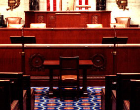 The well on the floor of the House Chamber. Image courtesy of the Office of the Clerk, U.S. House of Representatives