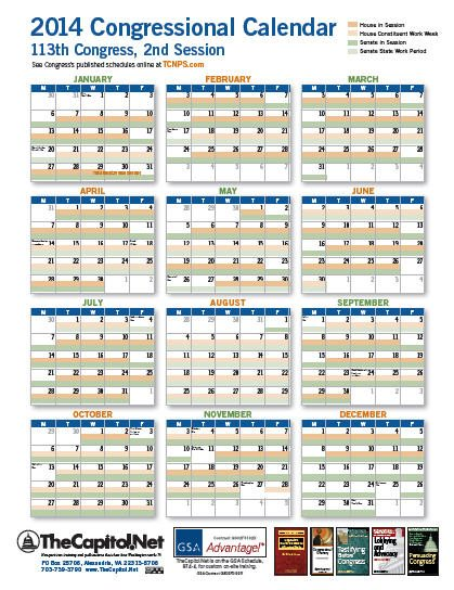 2014 Congressional Calendar thumbnail - Click image for the PDF