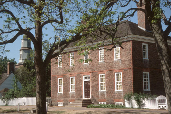 Wythe House in Colonial Williamsburg, VA, courtesy of Colonial Williamsburg