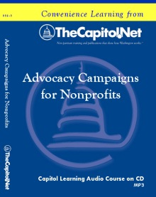 Advocacy Campaigns for Nonprofits, Capitol Learning Audio Course