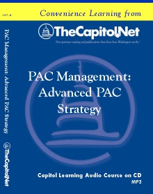 PAC Management: Advanced PAC Strategy Capitol Learning Audio Course