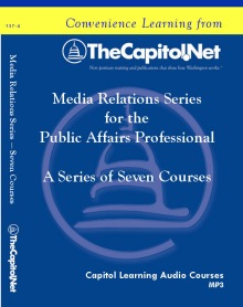 Media Relations for the Public Affairs Professional, 7 Audio Courses on CD