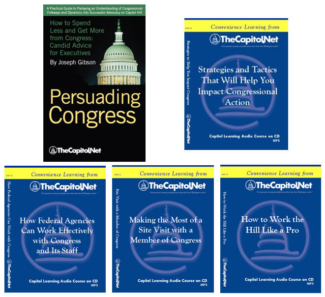 Working with Congress and Congressional Staff, 4 Audio Courses on CD