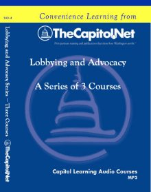 Lobbying and Advocacy Series – Three Courses on CD