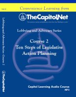 Ten Steps of Legislative Action Planning, Capitol Learning Audio Course