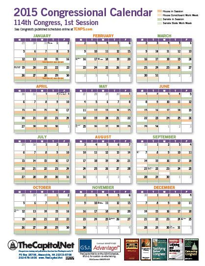 2015 Congressional Calendar thumbnail - Click image for the PDF