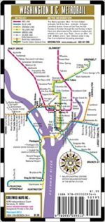 Streetwise Washington DC Metro Map - Laminated Washington DC Metrorail Map