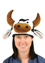 Plush Cow Head Hat