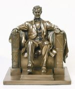 8.13 Inch Abraham Lincoln Washington DC Memorial Statue Figurine
