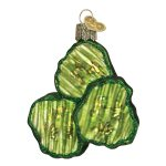 Old World Christmas Pickle Chips Glass Blown Ornament