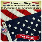 American Flag: American Made by Grace Alley - 3x5 US Flag Made In USA - Embroidered Stars and Sewn Stripes