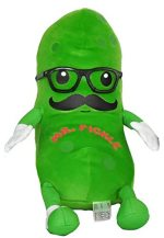 Fiesta Toy Mr. Pickle with Mustache and Glasses - 12 inch