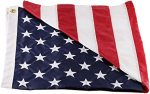 American Flag - 100% Made In USA - Strong Like Americans Made By Americans: Embroidered Stars - Sewn Stripes - 3x5 ft