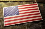 2 pack - Color Us Made 3m Reflective American Us Patriotic Flag Sticker Durable USA Decal 4 X 2.5