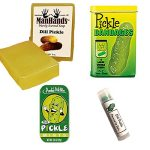 Deluxe Pickle Bath & Grooming Gift Pack (4pc Set) - Dill Pickles Soap, Bandages, Lip Balm & Breath Mints