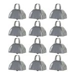 Metal Cowbell Noisemakers - School Cowbells Set 12 Pack