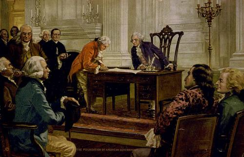 Signing the Constitution