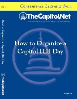 How to Organize a Capitol Hill Day, Audio Course on CD