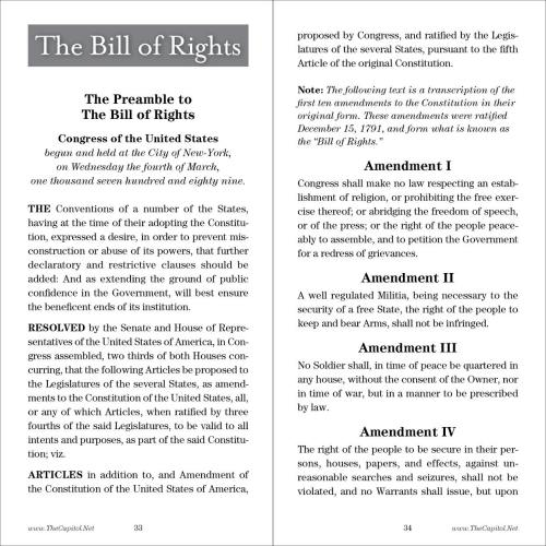 Page 5 and Page 13 from Pocket Constitution