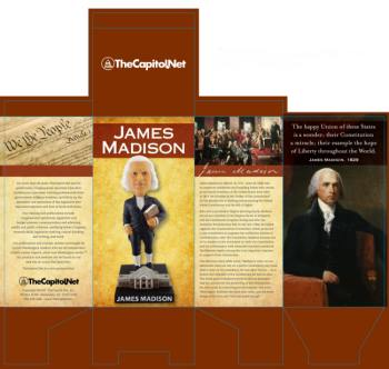 James Madison Bobblehead packaging