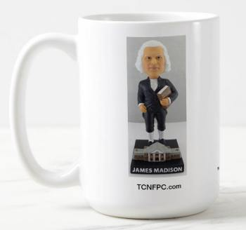 James Madison Bobblehead MUG