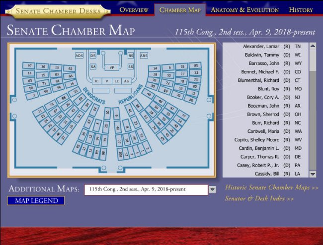 Map Of Us Senators.Congress Seating Charts Congressseating Com Hobnob Blog