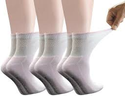 Yomandamor Women's 6 Pairs Bamboo Diabetic Ankle Socks with Non-Binding Top And Cushion Sole